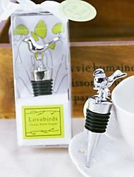 Lovebirds Chrome Bottle Stopper
