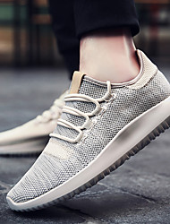 Men's Athletic Shoes Spring Summer Fall Comfort Light Soles Tulle Outdoor Athletic Casual Low Heel Lace-up Running