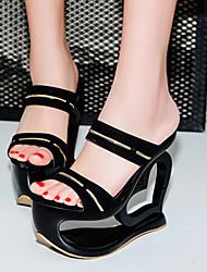 Women's Sandals Summer Gladiator Cowhide Dress Wedge Heel Braided Strap