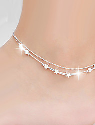 Silver Ball Strand Anklet Bracelet Body Jewelry/Leg Chain Alloy Drops Natural Handmade Fashion Silver 1pc