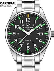 Carnival Male watch waterproof super bright tritium gas blue green luminous Outdoor mens business analg quartz Watches