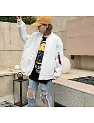 Sign shop, * 2017 Spring Harajuku BF wind webbing letter handsome baseball uniform jacket