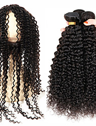 Vinsteen 8A Brazilian Hair Bundles with Closure8-30 Double Weft with 360 Lace Frontal Closure Extensions Dyeable Weaves Kinky Curly Wavy Free Shipping