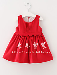 Girl's Going out Casual/Daily Solid Dress Summer Sleeveless