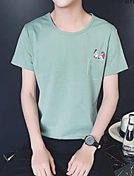 homens&# 39; s de manga curta camisa de bolso impressão macho de manga curta t-shirt aberdeen vento