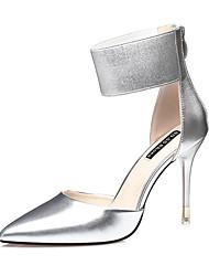 Women's Heels Spring Fall Comfort Leather Dress Stiletto Heel Blushing Pink Sliver Dark Grey Black