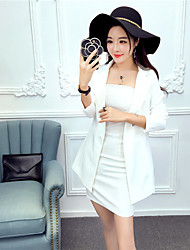 Sign Spring Tide brand ladies long sleeve small suit jacket piece fitted dress + Bra