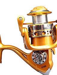 Molinetes de Pesca Molinetes Rotativos 5.2:1 10 Rolamentos Destro Pesca Geral-GF4000