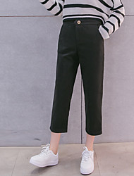 Korean version of the new winter woolen pants feet wide leg casual pants waist pencil pants straight pantyhose