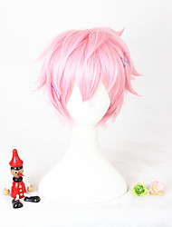 Short pink l'animation kisaragi koi synthétique 12inch anime cosplay perruque cheveux cs-297b