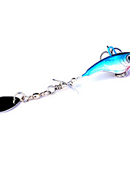 1 Stück Harte Fischköder Zufällige Farben 12 g Unze mm Zoll,Metall Angeln Allgemein