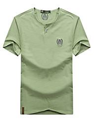 Homme Tee-shirt Respirable Eté Gris Noir Bleu Olive