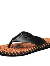 Chinelos de homem&Flip-flops primavera verão queda conforto couro ao ar livre escritório&Sapatas ocasionais do upstream do