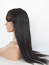 Long Length Hair Lace Front Wigs Yaki Straight Lace Front Wigs Human Hair Wigs For  Women