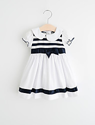 Girl's Casual/Daily Solid Dress,Cotton Rayon Summer ½ Length Sleeve