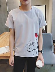 Männer&# 39; s Normallack Kurzhülse T-Shirt mitleidsvolles dünnes schwarzes Kurzhülse Kleidhemd-Sommer-Gezeiten