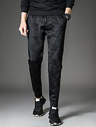 uomini -p47&# 39; s pantaloni mimetici elastici dei pantaloni di sport pantaloni casual studio colpo di sesso maschile