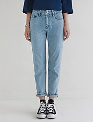 Simple wild spring and summer was thin straight jeans