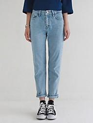 resorte simple y el verano salvaje fue jeans rectos delgados