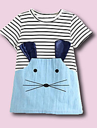 Girl's Casual/Daily Solid Dress,Polyester Summer Fall Short Sleeve