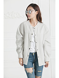 Model real shot 2016 new winter leisure wild Slim was thin loose frock jacket and long sections
