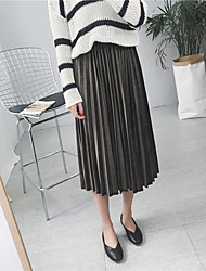 Vrai coup! Europe et sud-coréen velours plissé jupe métallique taille femme