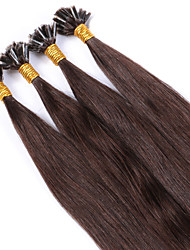 Best Brazilian Nail U Tip Keratin Fusion Hair Extensions 100% Human Virgin Hair Color #3 Straight Sale Pre Bonded 1g/Strand