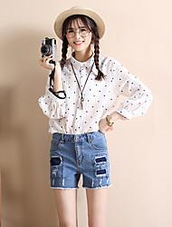 signer 2017 printemps et en été coréen jean femelle patch trou short en denim short bords élastiques