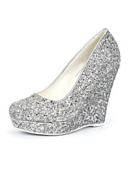 Women's Heels Spring Summer Gladiator Synthetic Wedding Office & Career Party & Evening Dress Casual Wedge Heel Sequin
