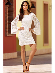 Hot Women ebay AliExpress new Autumn hollow lace halter long-sleeved dress skirt