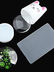 1set super-Meng cola coniglio manico bianco in silicone trasparente testina di stampa Offset