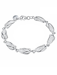 Silver Plated Sweet Flip Flop Chain & Link Bracelets Christmas Gifts Jewellery for Women Accessiories