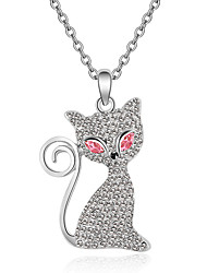 Women's Pendant Necklaces Crystal Chrome Animal Design Personalized Cute Style Euramerican Jewelry For Wedding Party Birthday