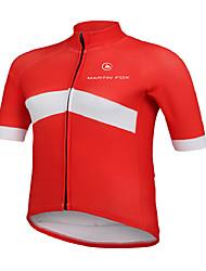 Cycling Jersey Men's Short Sleeve Bike Breathable Quick Dry Tops Terylene Fashion Spring Summer Fall/AutumnTaekwondo Boxing Exercise &