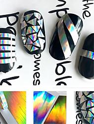 1PCS Adesivos para Manicure Artística Decalques de transferência de água Autocolantes de Unhas 3D maquiagem CosméticosDesigns para