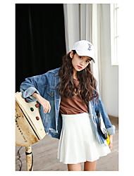 Sign 2017 spring models denim jacket hem masticate
