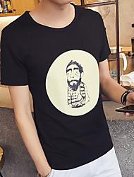 velhos modelos explodiu magro de manga curta t-shirt camisa bottoming café