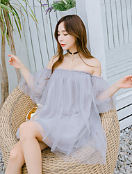 signer 2017 nouvelle version coréenne feifei manches robe tutu de gaze avec un leggings soutien-gorge sans bretelles encolure bateau