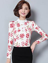 Really making new winter plus thick velvet jacket Korean version of Slim chiffon shirt bottoming shirt long sleeve lace shirt 2
