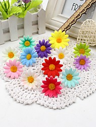 10Pcs Small Silk Sunflower Handmade Artificial Flower Head Wedding Decoration DIY Wreath Gift Box Scrapbooking Craft Fake Flower