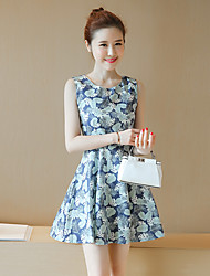 Sign 2017 waist was thin small fresh floral skirt cotton vest skirt bottoming A word skirt long section of female