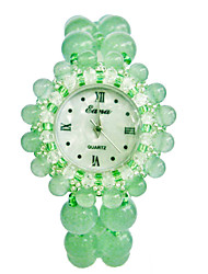 Women's Fashion Watch Quartz Jade Band Green Green