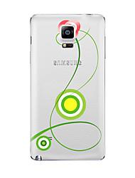Für Transparent Muster Hülle Rückseitenabdeckung Hülle Blume Weich TPU für Samsung Note 5 Note 4 Note 3 Note 2