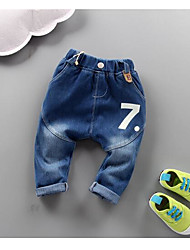 Unisex Casual/Daily Solid Jeans Spring