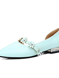 Flats Spring Summer Fall Comfort Light Soles PU Office & Career Dress Casual Flat Heel Flower