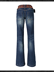 Women's Mid Rise Micro-elastic Jeans Pants,Sexy Bootcut Sequins Solid