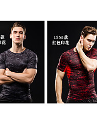 JINXIUSHIRT® Men's Running Jersey + Shorts Breathable Sweat-wicking Summer Climbing Swimming Spandex Coolmax Slim Indoor Leisure Sports