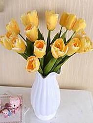 1 Une succursale Fibre Tulipes Fleur de Table Fleurs artificielles 3.5*3.5*43