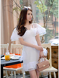 Thailand Tide brand Heavy Feather Dress