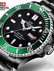 Carnival Мужской Модные часы Механические часы Наручные часы С автоподзаводом Нержавеющая сталь Группа Черный Черный/зеленый